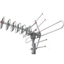 Outdoor Waterproof Amplified Antenna HD TV High Gain 36dB Rotor 360°UHF/VHF/FM