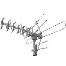 Outdoor Waterproof Amplified Antenna HD TV High Gain 36dB Rotor 360°UHF/VHF/FM