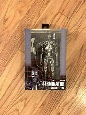 "MISP NECA REEL TOYS Terminator T-800 ENDOSKELETON Silver Movie action figure 7"""