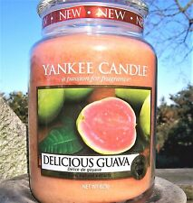 """Yankee Candle """"DELICIOUS GUAVA""""  22 oz.~ EUROPEAN RELEASE ~ TAN LABEL ~ NEW!"""
