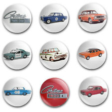 25mm  BUTTON BADGES X9 FEATURING THE FORD CORTINA
