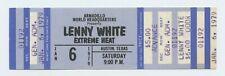 Lenny White Ticket 1979 Jan 6 Austin Tx Unused
