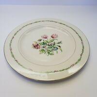 """""""GARDEN FLOWER """" Theodore . Haviland New York  Dinner Plate 10 5/8"""""""