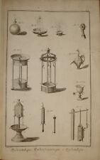 "Stampa antica ""Idraulica - fontane"" Diderot D'Alambert 1780 old engraving"