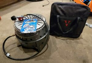 Volcano 2 II Portable Propane Wood Charcoal Collapsible Grill Stove w/ Case