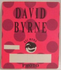 David Byrne / Talking Heads Concert Tour Cloth Backstage Pass *Last One*
