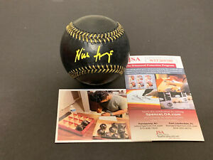 Nick Gonzales Pirates Autographed Signed BLACK Baseball JSA WITNESS COA .