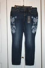 Women's TORRID Premium Skinny Stitch Floral Denim Jeans-Size 14R-New With Tags