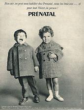 PUBLICITE ADVERTISING 084  1963  PRENATAL  vetements  enfants  MANTEAUX