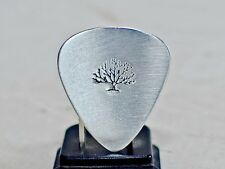 Guitar pick in sterling silver with big tree
