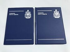 Lot Of 2 Canada Coin Collection Books 50 Cents Fifty 48 Spaces Coins Collecting