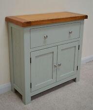 Camborne Painted Oak Mini Sideboard / Compact Storage in Sea Green / Sage