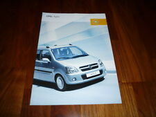 Opel Agila Prospekt 07/2005
