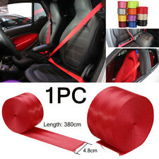 Car Seat Belt Webbing Polyester Seat Lap Retractable Nylon Safety Strap 3.8M