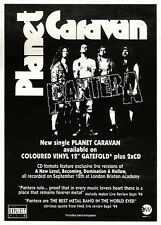 "ARTICLE - ADVERT 15/10/94PGN14 7X5"" PANTERA : PLANET CARAVAN SINGLE"