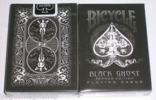 Black Ghost Deck Bicycle Playing Cards Poker Size USPCC 2nd Ed. New Ellusionist