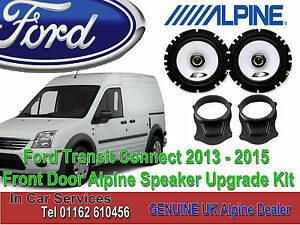 Ford Transit Connect 2013-2015 Alpine Front Door Coaxial Speaker Upgrade