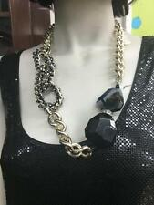 ALISS AND ENA CHUNKY NECKLACE / PENDANT ... BLACK AGATE , STONES AND SILVER