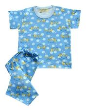 Blue Rubber Duckie Printed Pajama Set Baby/Toddler Sleepwear, XXS (1-2 y/o)