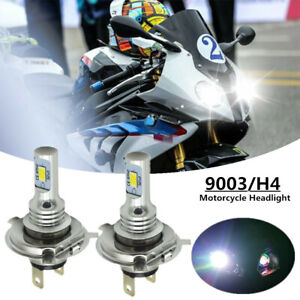 H4 9003 HB2 LED Motorcycle Headlight Bulb HID Hi/Low Beam 6000K High Power EOA