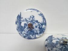 Tapon de porcelana para Baño Bañera Lavabo. Decorado con imagenes de Epoca 52mmØ