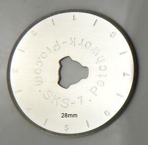 3x Ersatzklingen 28mm für Rollschneider Rollmesser Rotary Patchwork Quilt 281