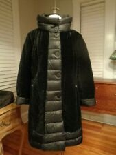 VIOLANTI Soft goose down black puffer coat women's EU 44  US 8 made in Italy