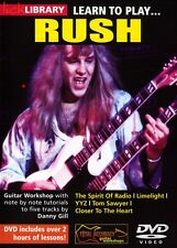 Lick Library LEARN TO PLAY Alex Lifeson's RUSH Guitar Lesson DVD with Danny Gill