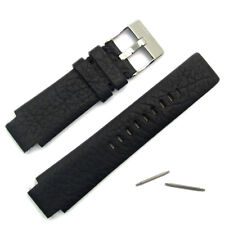 Diesel Mens Watch Band Black Leather Strap Stainless Steel Buckle DZ1032 Genuine