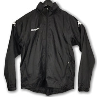 Kappa Men's Track Jacket Black Size XL Full-Zip Tracksuit Top Waterproof Shell