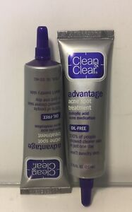 2 Clean & Clear Advantage Acne Spot Treatment, Oil Free Acne Exp 7/21 10/21