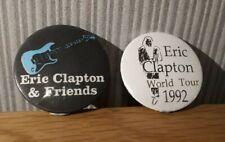 More details for eric clapton - eric clapton & friends / world tour 1992 - vintage pin badges (2)