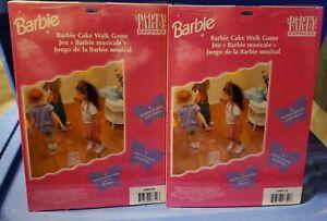 2x 1997 Barbie Cake Walk Game Birthday Party Express Supplies Vintage Hallmark