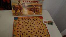 Vintage 1947 Milton Bradley BUCKAROO The Cowboy Roundup Board Game Complete