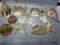 Brass Ornaments Lot Of 14 Souvenirs--009