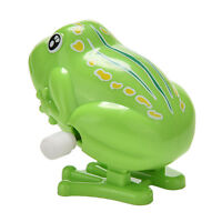 1 Pcs Wind up Frog Plastic Jumping Animal Classic Educational Clockwork Toys FJ