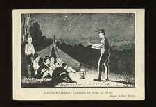 Switzerland UNION CADETTE Camp night stories artist PPC c1920s?