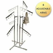 Classic Handbag Rack Heavy Duty Chrome Adjustable Slant Arms, Square Tubing New