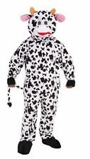 Mascot Cow Adult Halloween Costume Black White Milk Fun Soft Plush Standard Size