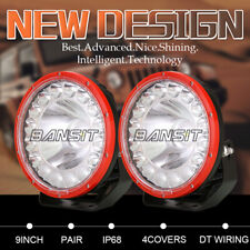 NEW OSRAM 9 inch LED Driving Lights Spot Flood SUV Offroad Truck Work Round RED