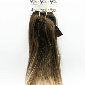 """Beauty Works 18"""" Remy Human Clip In Double Hair Extensions 180g NEW Damaged Box"""