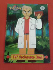 TV7 PROFESOR CHEN PUZZLE TOPPS TV ANIMACIÓN POSTAL POKEMON RARO VF