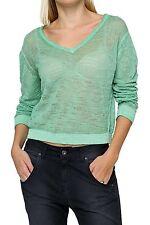 Taillenlange Damen-Pullover mit mittlerer Strickart aus Baumwolle