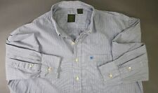 Timberland Men's sz Xl Blue St Cotton Long Sleeve Casual Button-Down Shirt