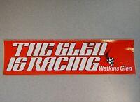 EXCELLENT ORIGINAL WATKINS GLEN IMSA SCCA 1984 THE GLEN IS RACING BUMPER STICKER