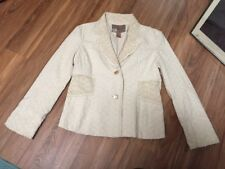 Buckle BKE Outerwear Womens Size XL Cream Eyelet Lace Embroidered Blazer Jacket