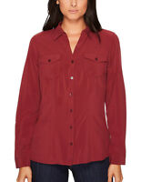 Exofficio Women's  Button Down UPF 50  Wrinkle-resistant Travel Shirt, Small
