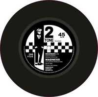 """Ska Two Tone Printed Exterior Vinyl 7"""" 178mm Decals Madness x 2 Rude Boy Culture"""
