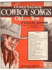 Sterling Sherwin American cowboy CANZONI 1939 tavole di musica