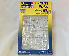 Revell Parts Pak Chevy 283 c.i. V-8 Engine ~ Chrome Plated ~ 1/25 scale